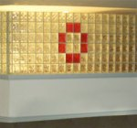 Colored Glass Block Wall, Eastern Glass Block