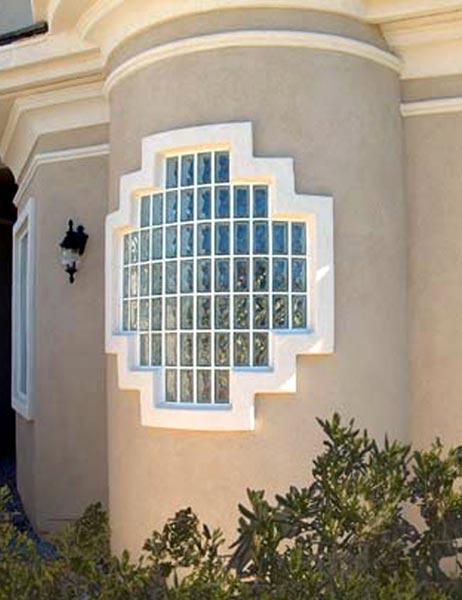 Modern exterior design using glass block glass block blogger for Modern window design residential