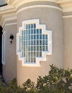 Modern exterior design using glass block glass block blogger for Glass block window design ideas