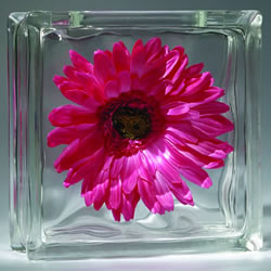 Eastern Glass Block craft flower