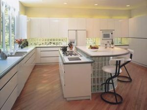 Open Kitchen Floor Plans on Put In A Kitchen Island To Develop An Open Floor Plan   Glass Block