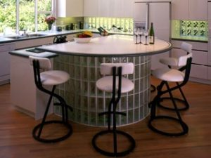 Kitchen Island, Eastern Glass Block
