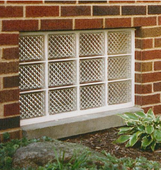 Eastern Glass Block Basement Window Flood Resistant