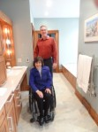 Rosemarie Rossetti & Mark Leder in Universal Design Master Bathroom