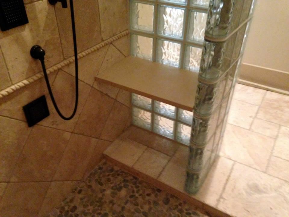 Classic Glass Block shower 2   Glass Block Blogger