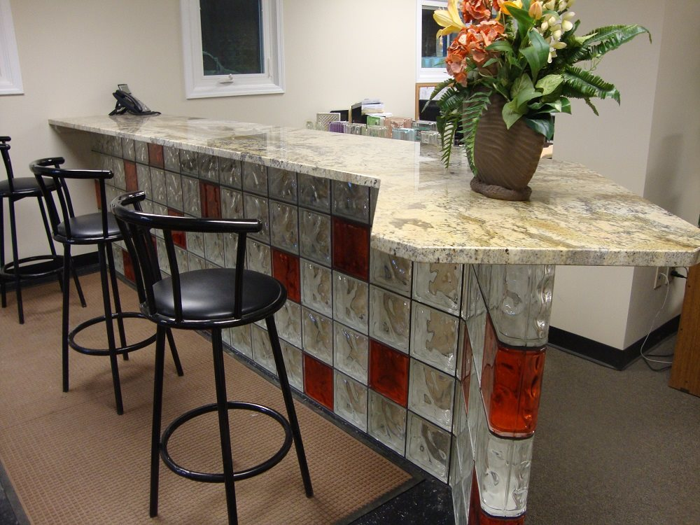 Glass Block Ideas For Kitchen Islands And Breakfast Bars