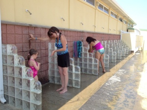 Glass Block Showers At The Beach