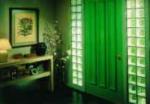 glass block foyer