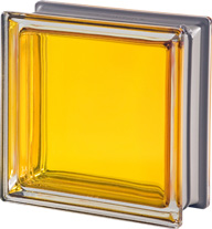 bright yellow glass block