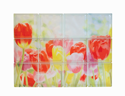 Mural of Tulips with the new Expressions Collection