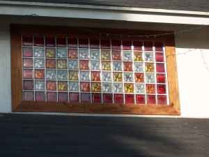 Color Glass Block Window