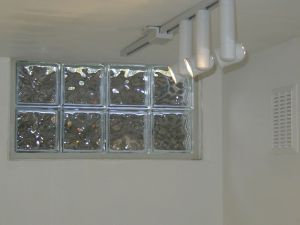 Ventless glass block basement window done with silicone