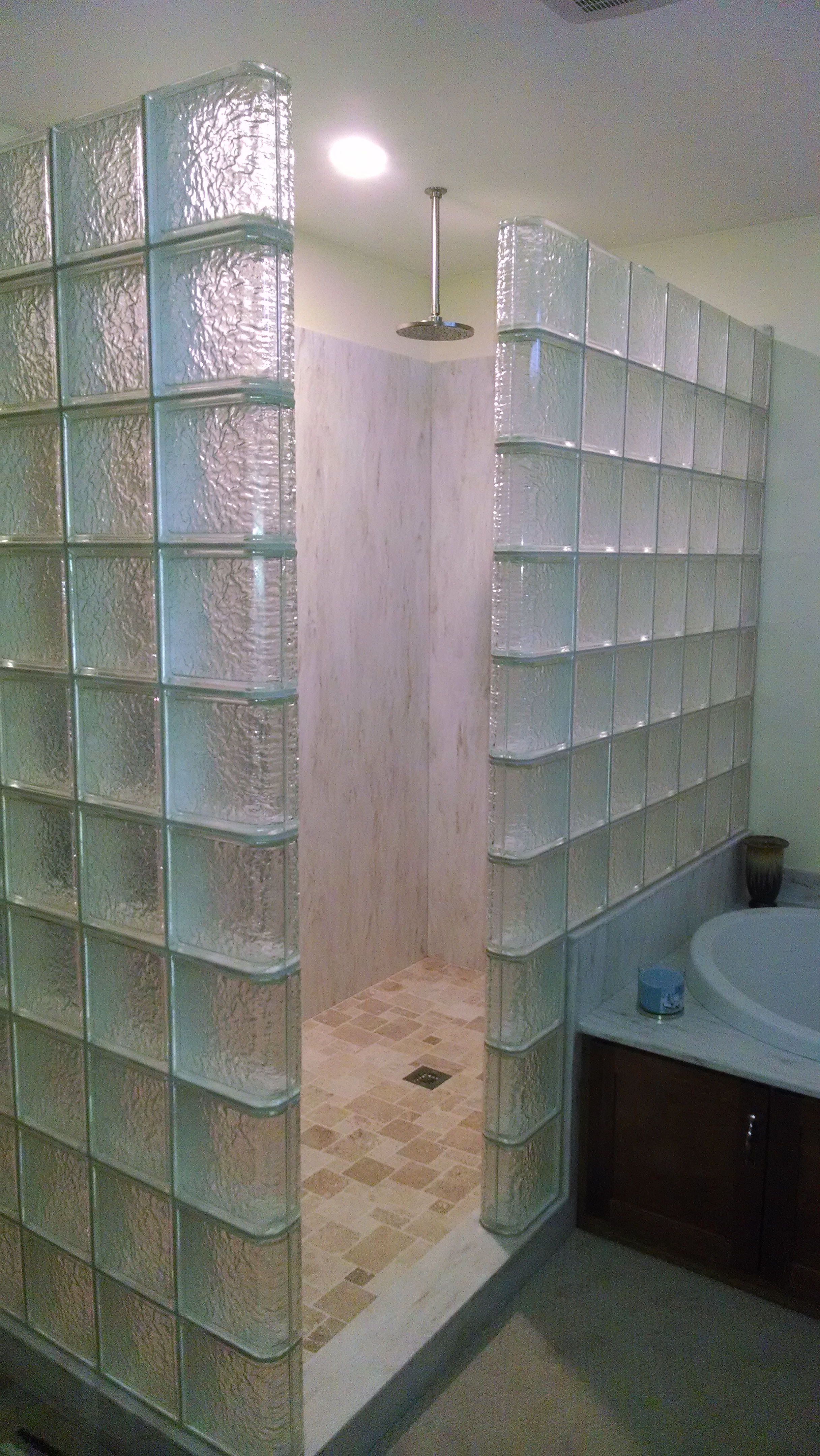 Exceptionnel Glass Block Shower With Icescapes Glass Blocks