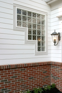 Stair Design Glass Block Window