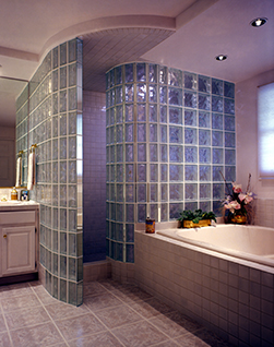 Walk In Glass Block Shower