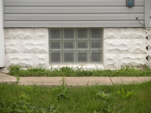 Glass Block Basement Window w/o Vent