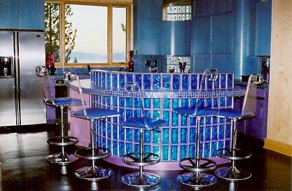 glass block furniture. Blue Glass Block Bar Furniture D