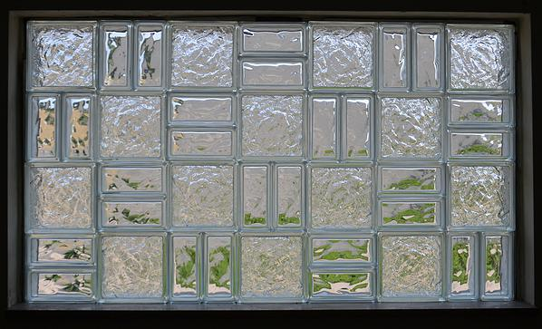 These unique glass block windows are all the rage glass for Glass bricks designs