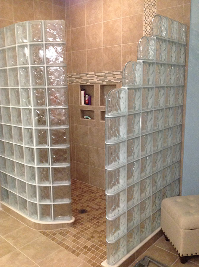 A Different Way To Do Glass Block Showers Glass Block