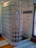 Second, Choosing To Go With A Prefabricated Glass Block Shower Kit Cuts The  Longevity Of The Project. The Shower Wall Is Made At The Warehouse Into  Sections ...