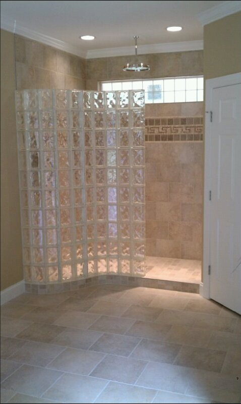 Superior West Side Glass Block Shower Stall Enclosure Section